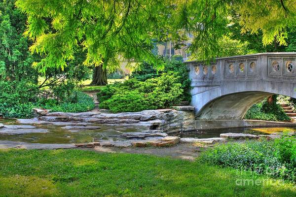 Photograph - Bridge Over Waterway At Eden Park by Jeremy Lankford