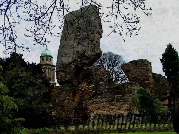 Photograph - Bridgnorth Castle Ruins by Sarah Broadmeadow-Thomas