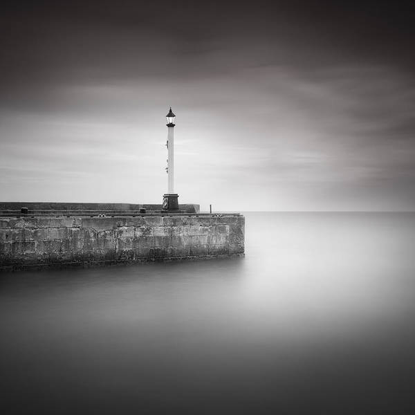 Mono Photograph - Bridlington Harbour by Ian Barber