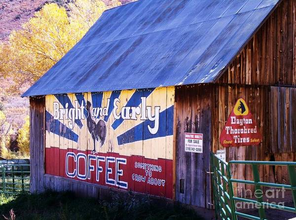 Wall Art - Photograph - Bright And Early Coffee Barn by Donna Parlow