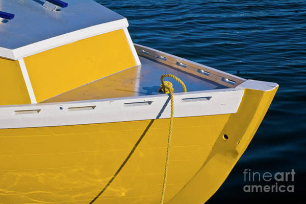 Bright Yellow Boat Art Print