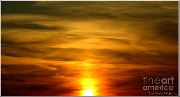 Photograph - Brilliant Orange And Gold Sunset by Rose Santuci-Sofranko