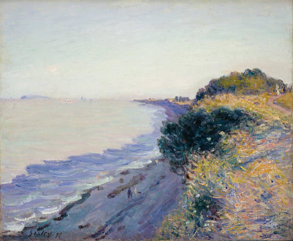 North Devon Wall Art - Painting - Bristol Channel Evening by Alfred Sisley