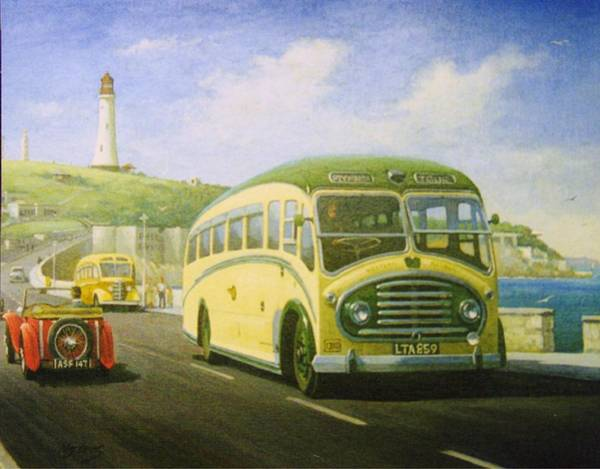 Devon Painting - Bristol L On Plymouth Hoe by Mike Jeffries