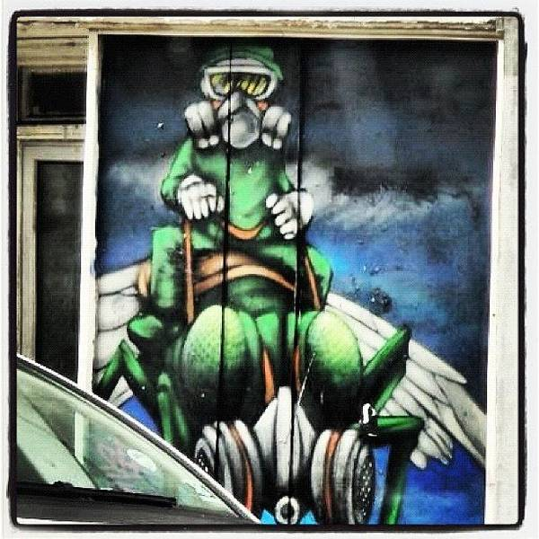 Cartoon Wall Art - Photograph - #bristolgraffiti #character #canart by Nigel Brown