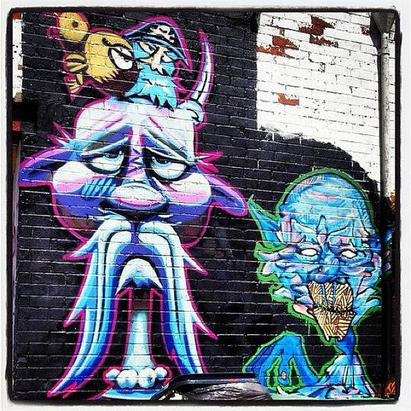 Cartoon Wall Art - Photograph - #bristolgraffiti #graffitiwall #graf by Nigel Brown