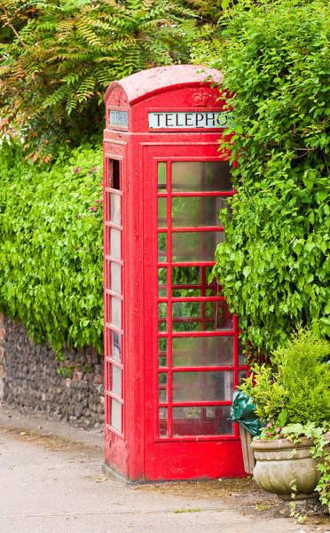 Phone Booth Photograph - British Classic Phone Box In Lavenham Suffolk by Tom Gowanlock
