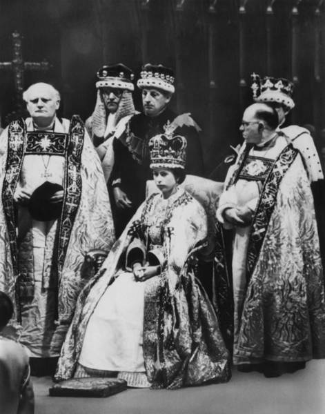 Queens Bath Photograph - British Royalty. Front Row, From Left by Everett