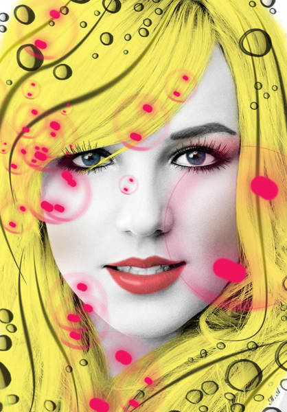 Dive Digital Art - Britney  by Mark Ashkenazi