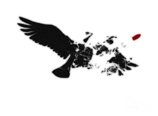Dove Digital Art - Broken Peace by Pixel Chimp
