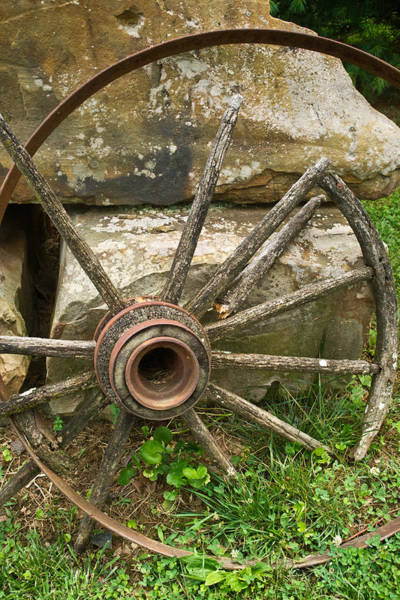 Wagon Wheel Photograph - Broken Wagon Wheel by Douglas Barnett