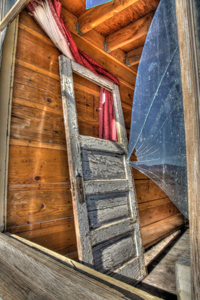 Death Valley Photograph - Broken Window by Peter Tellone