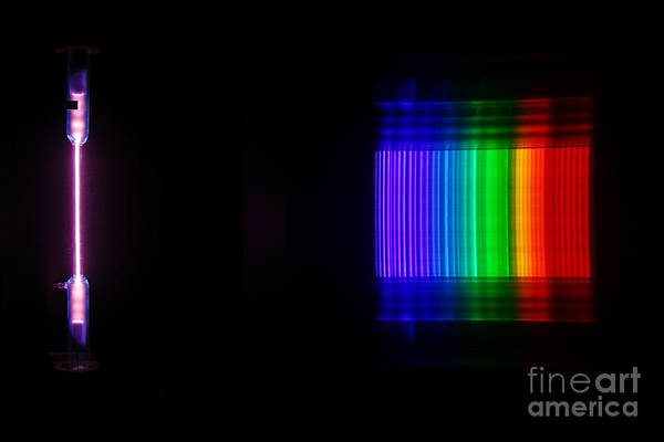 Grating Wall Art - Photograph - Bromine Spectra by Ted Kinsman