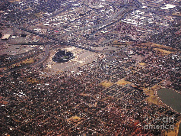 Photograph - Broncos Stadium Aerial by Anthony Wilkening