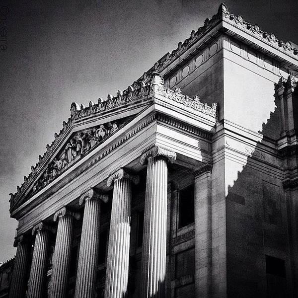 Monochrome Photograph - Brooklyn Beaux-arts Architecture by Natasha Marco