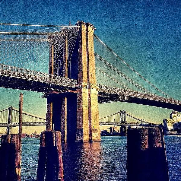 Skyscraper Photograph - Brooklyn Bridge - New York by Joel Lopez