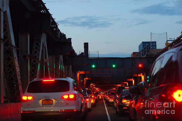 Brooklyn Bridge At Night Art Print by Andrea Simon