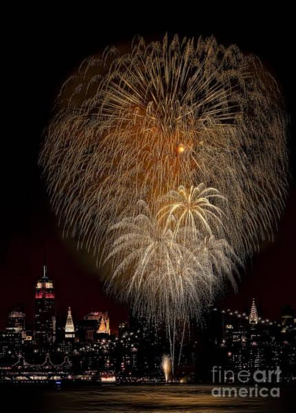 Photograph - Brooklyn Bridge Celebrates by Susan Candelario