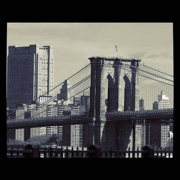 Transport Photograph - Brooklyn Bridge by Emily Moore