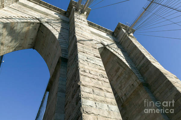 Photograph - Brooklyn Bridge Tower I by Clarence Holmes