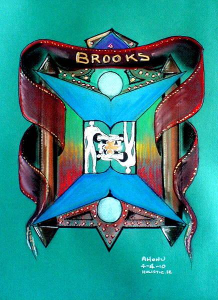 Brooks Family Crest Art Print