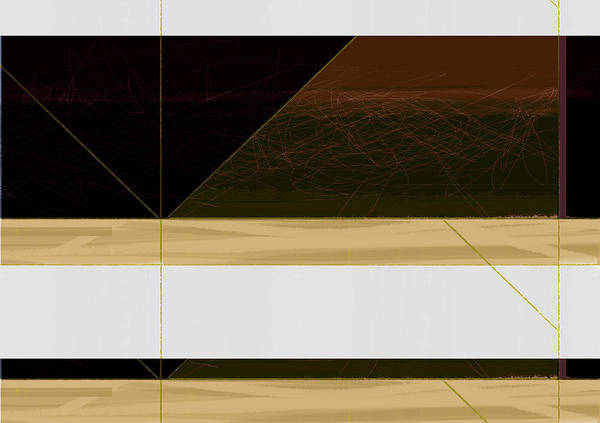 Contemporary Acrylic Painting - Brown Field by Naxart Studio