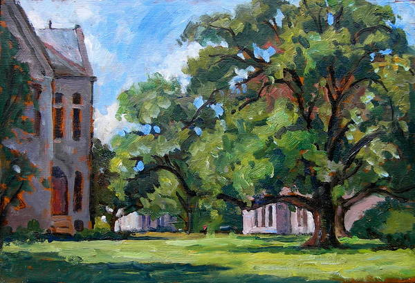 College Campus Painting - Bryn Mawr Afternoon by Thor Wickstrom