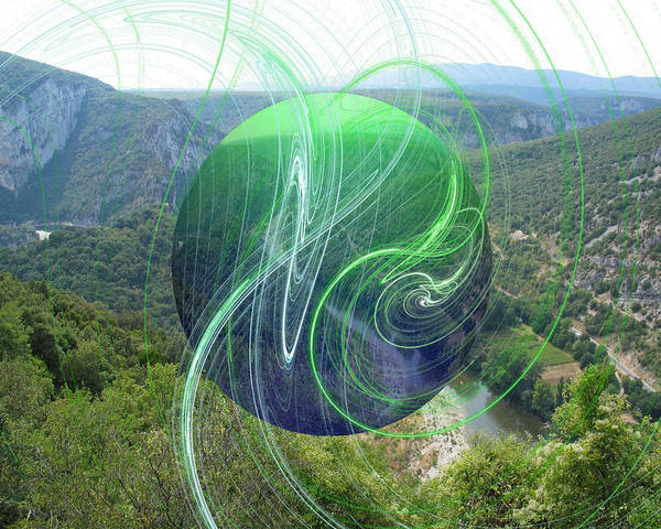 Pine Valley Digital Art - Bubble River by Daniel Madrid