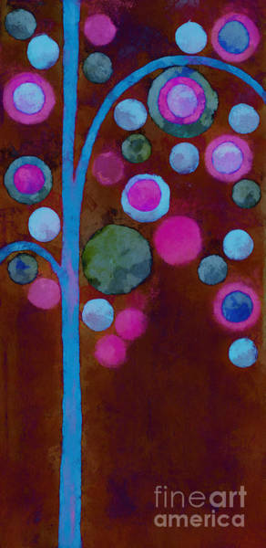 Neon Pink Painting - Bubble Tree - W02d by Variance Collections