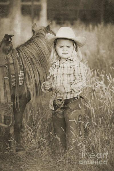 Digital Art - Buckaroo Cowgirl And Horse by Cindy Singleton