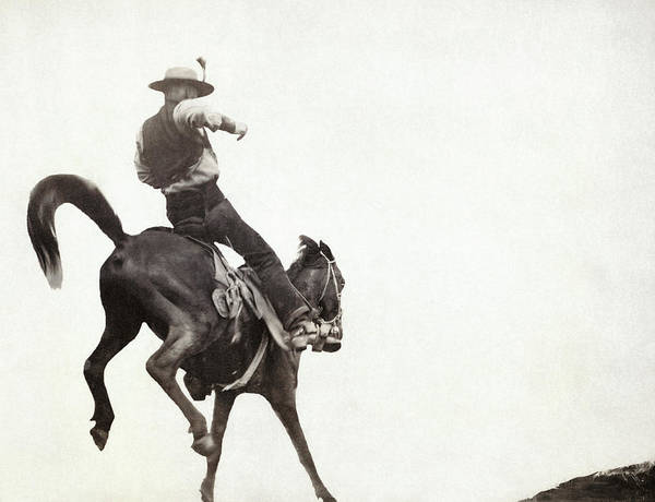 Photograph - Bucking Bronco, C1888 by Granger