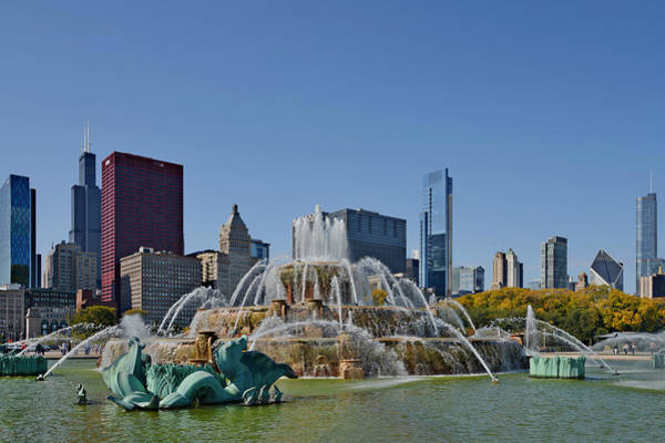 Photograph - Buckingham Fountain Chicago by Christine Till