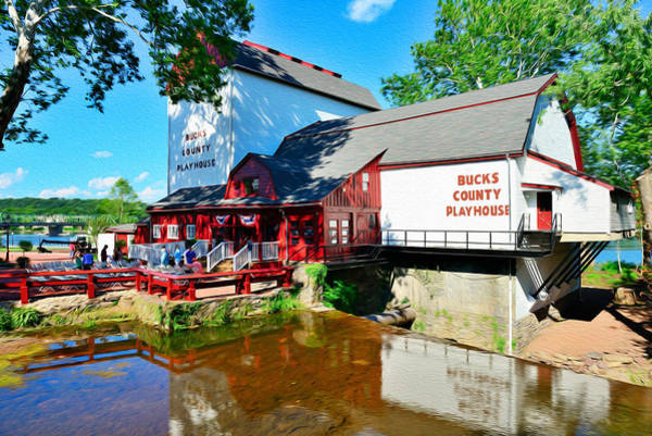 Playhouse Photograph - Bucks County Playhouse by William Jobes