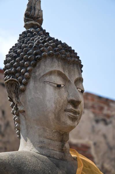 Photograph - Buddha Head Wat Wattanaram Ayutthaya Thailand by U Schade