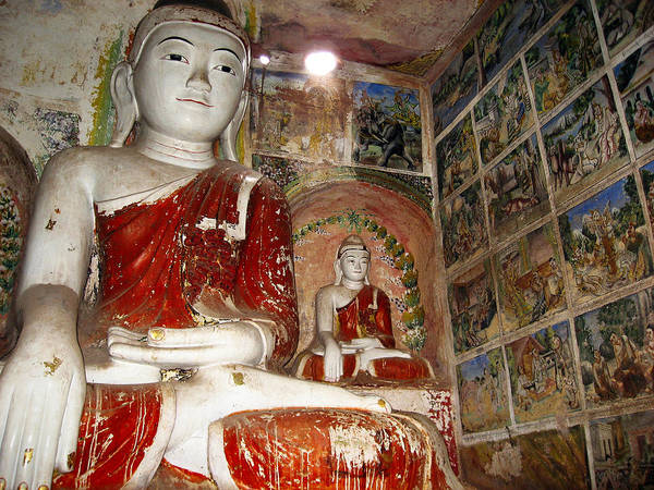 Photograph - Buddha Image In Po Win Taung Caves. by RicardMN Photography