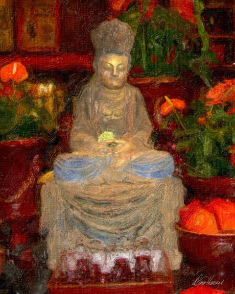 Photograph - Buddha In Red by Diana Haronis