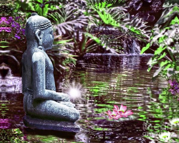 Realization Digital Art - Buddha's Garden by Laurel D Rund