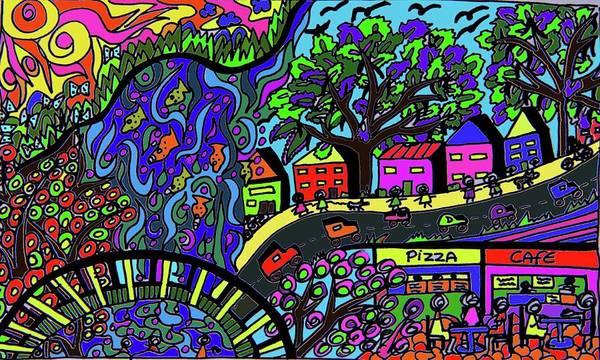 Wall Art - Drawing - Buderim Outlook by Karen Elzinga