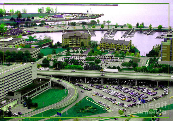Photograph - Buffalo New York Waterfront Aerial View Ultraviolet Effect by Rose Santuci-Sofranko
