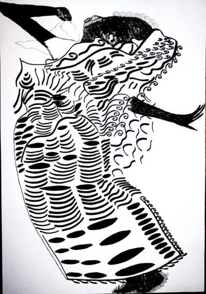 Drawing - Buganda Dance by Gloria Ssali