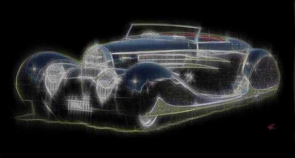 Digital Art - Bugatti by Kenneth Armand Johnson