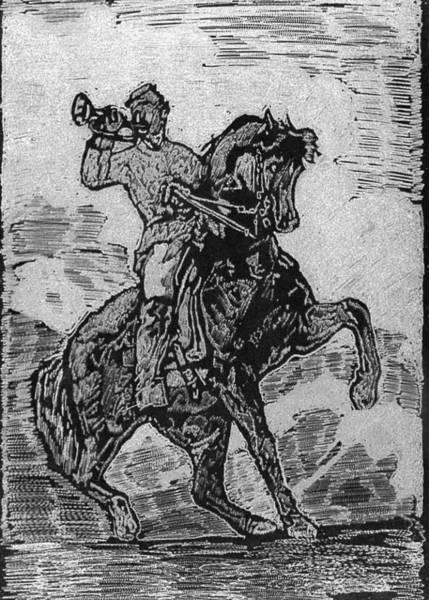 Bugling Drawing - Bugle Boy by Robert Clement