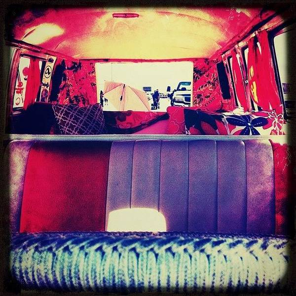 #bugorama #vw #bus #interior Art Print
