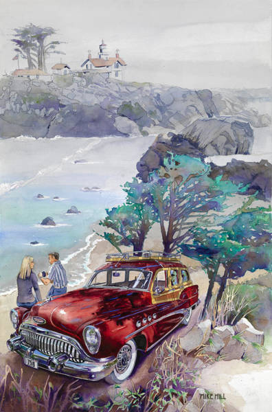 Wall Art - Painting - Buick At Battery Point by Mike Hill