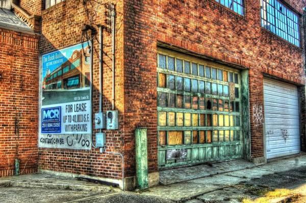 Digital Art - Buick Building Garage Door by Michael Thomas