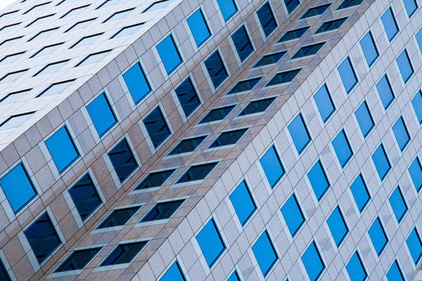 Building Abstract In Long Beach Art Print