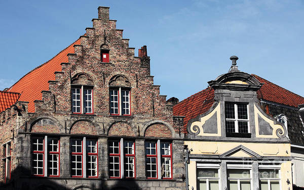 Wall Art - Photograph - Building Tops In Bruges by John Rizzuto