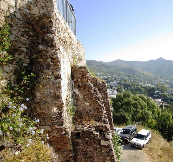 Photograph - Built Solid Rock Hilltop In Mijas Spain by John Shiron