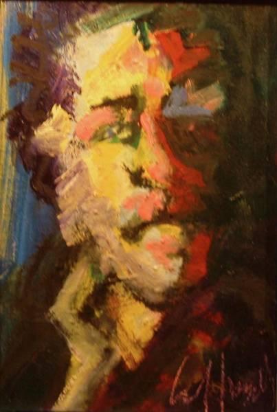 Painting - Bukowski by Les Leffingwell