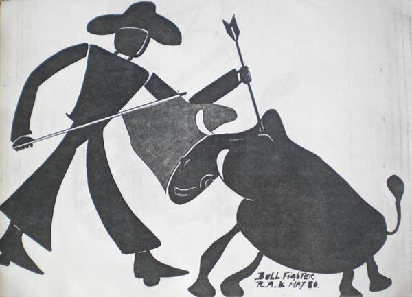 Painting - Bull Fighter by Ray Khalife
